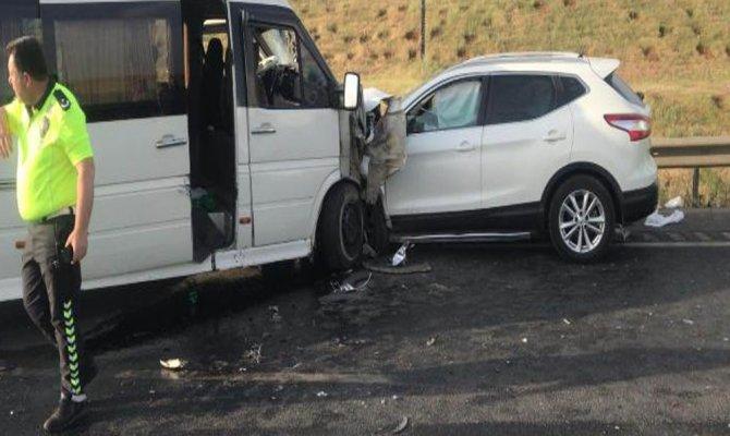 Gaziantep'te zincirleme kaza: 11 kişi yaralandı