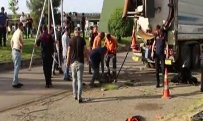 Trabzon'da kanalizasyonda akıntıya kapılarak kaybolan işçiyi arama çalışmaları sürüyor