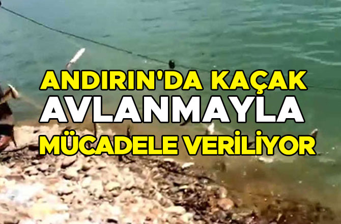 Andırın'da kaçak avlanmayla mücadele veriliyor
