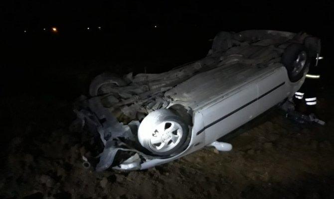 Elbistan'da takla atan otomobilin sürücüsü yaralandı