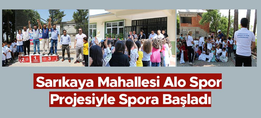 Sarıkaya Mahallesi Alo Spor Projesiyle Spora Başladı