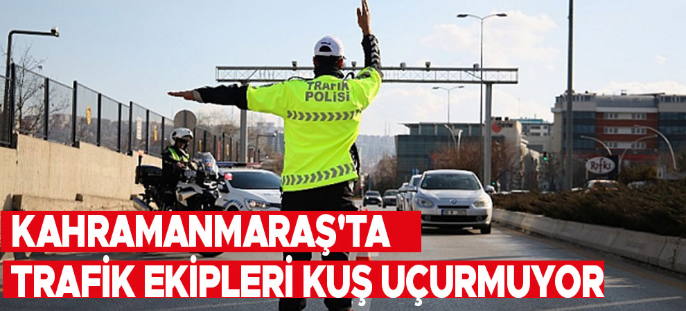 Kahramanmaraş'ta trafik ekipleri kuş uçurmuyor