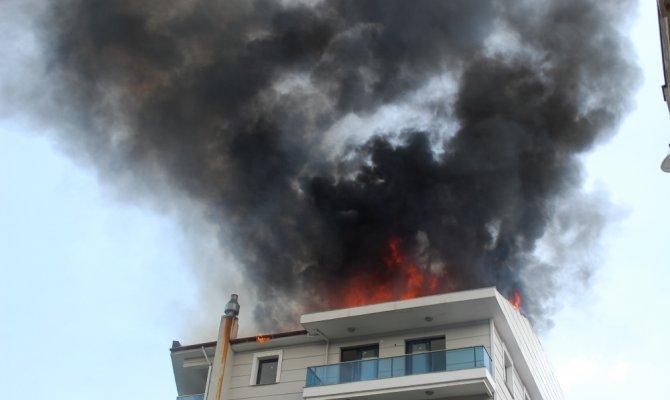 Alev alev yandı: Korku dolu dakikalar yaşandı