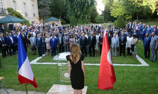 Türkiye'nin Paris Büyükelçiliği'nde 15 Temmuz anma töreni