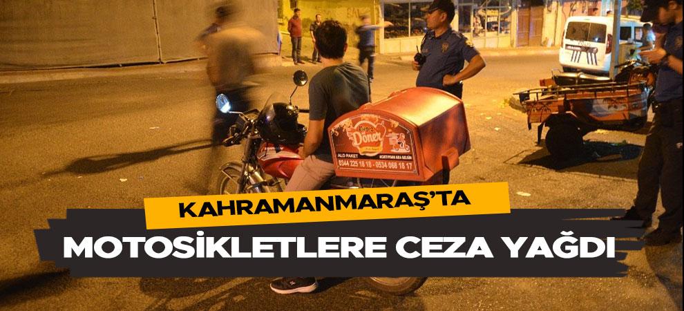 Kahramanmaraş'ta çevreyi rahatsız eden motosikletlere ceza yağdı