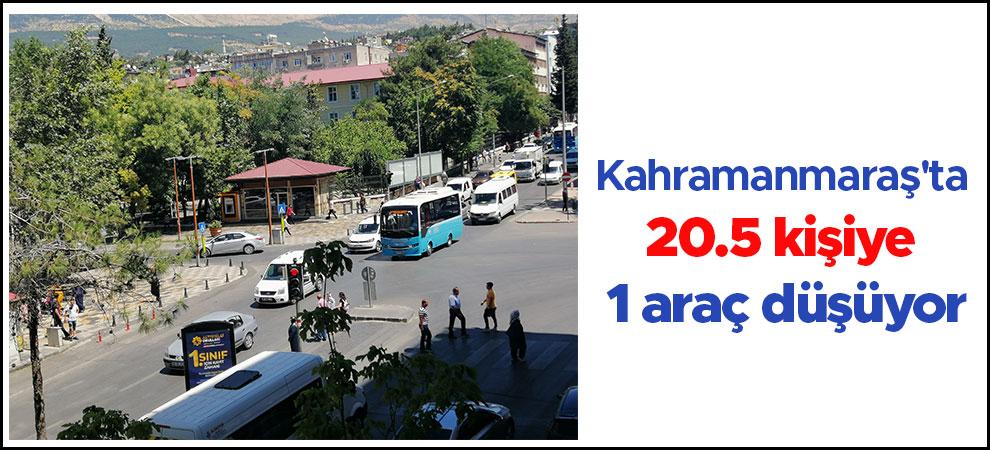 Kahramanmaraş'ta 20.5 kişiye 1 araç düşüyor