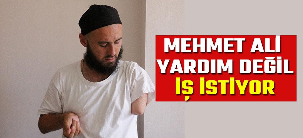 Mehmet Ali yardım değil, iş istiyor