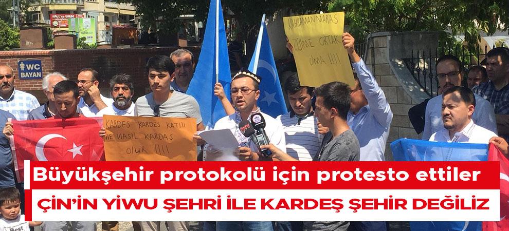 Büyükşehir protokolü için protesto ettiler