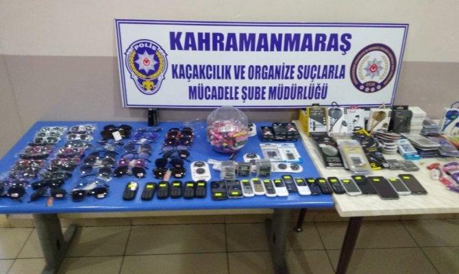 Kahramanmaraş'ta 450 bin liralık kaçak malzeme ele geçirildi