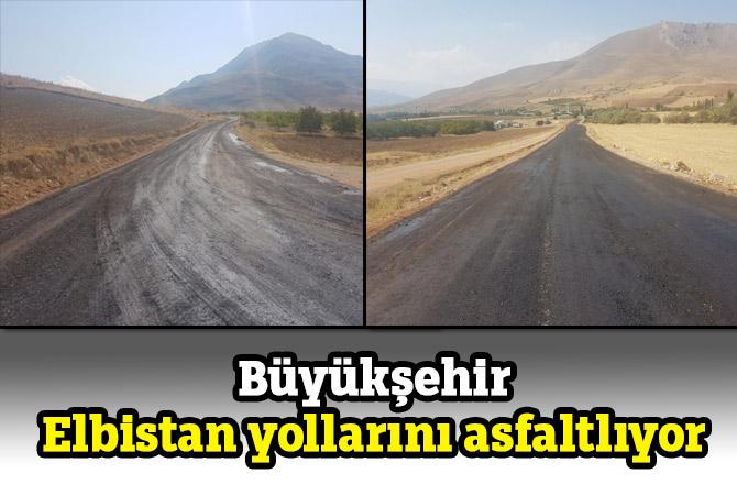 Büyükşehir Elbistan yollarını asfaltlıyor