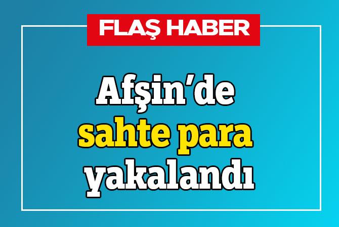 Afşin'de sahte para yakalandı