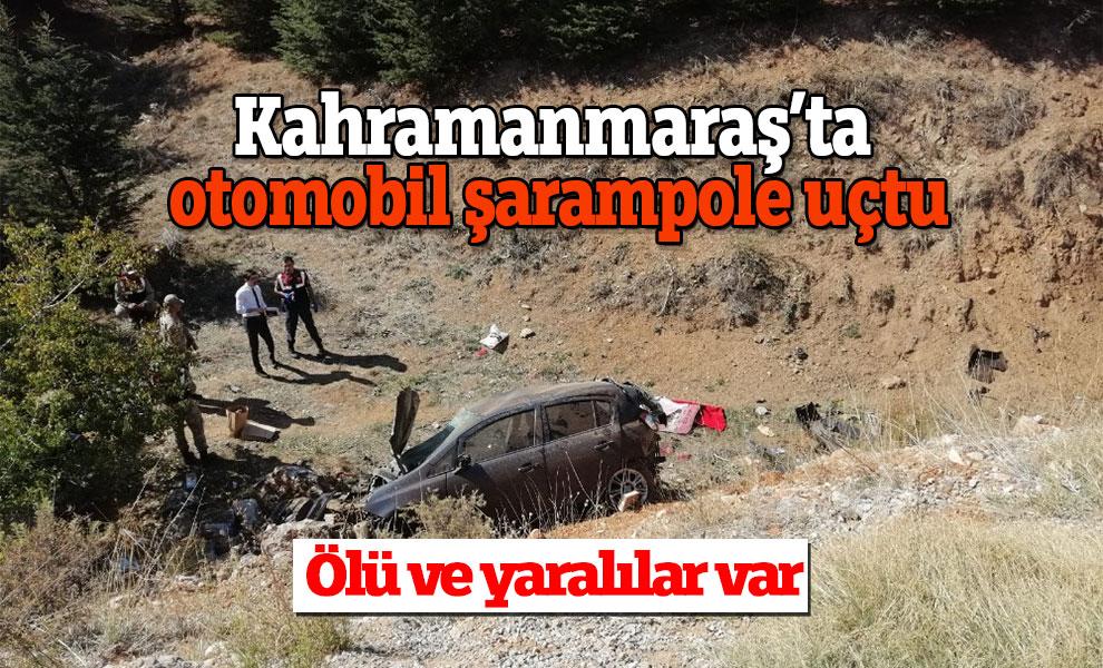 Kahramanmaraş'ta otomobil şarampole uçtu