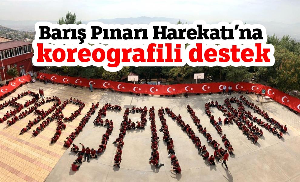 Kahramanmaraş'ta Barış Pınarı Harekatı'na koreografili destek