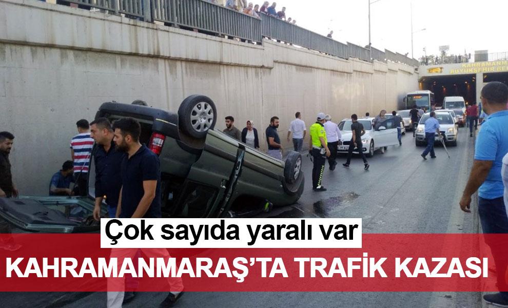 Kahramanmaraş'ta trafik kazası: Çok sayıda yaralı var