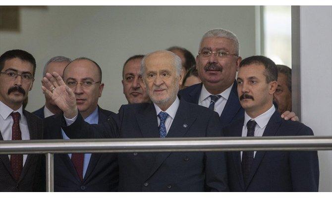 Bahçeli MHP Genel Merkezi'ndeki mesaisine başladı