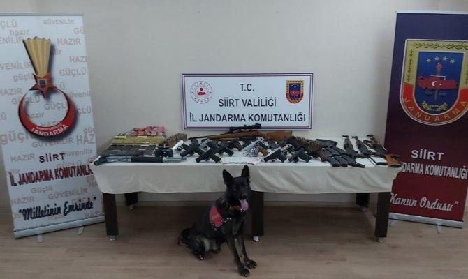 Siirt merkezli 5 ilde silah kaçakçılarına operasyon: 28 gözaltı