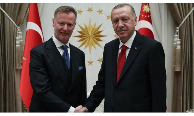 Cumhurbaşkanı Erdoğan Finlandiya'nın Ankara Büyükelçisi Maki'yi kabul etti