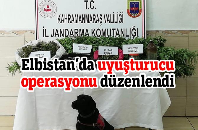 Elbistan'da uyuşturucu operasyonu düzenlendi