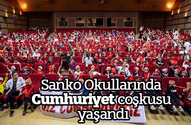 Sanko Okullarında Cumhuriyet coşkusu yaşandı