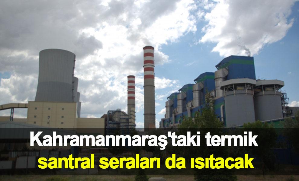 Kahramanmaraş'taki termik santral seraları da ısıtacak
