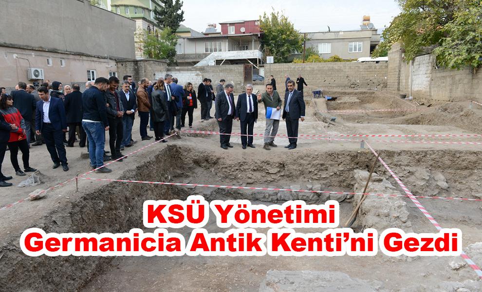 KSÜ Yönetimi, Germanicia Antik Kenti'ni Gezdi