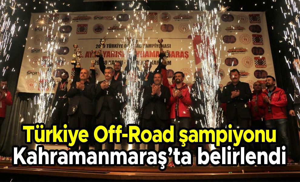 Türkiye Off-Road Şampiyonu Kahramanmaraş'ta belirlendi