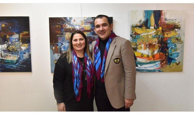 Ressam Raif ve Yasemin Kalyoncu Paris'te sergi açtı