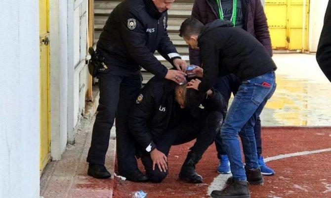 Kütahya'da ki maçta bir polis memuru başından yaralandı