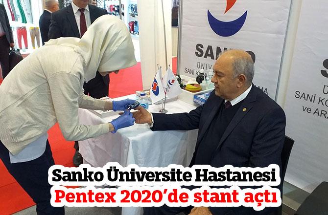 Sanko Üniversite Hastanesi Pentex 2020'de stant açtı