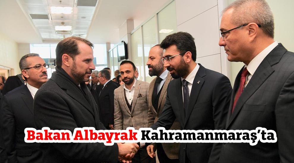Bakan Albayrak Kahramanmaraş'ta