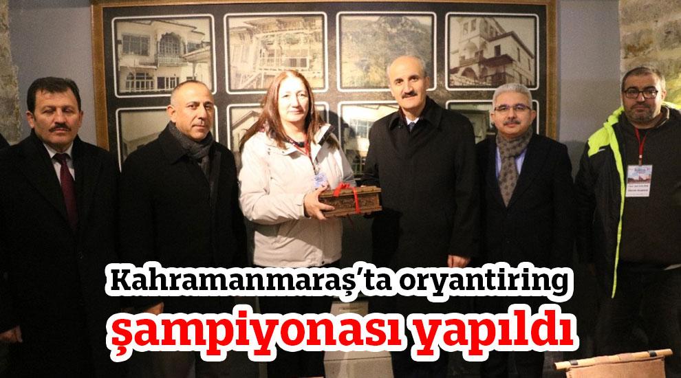 Kahramanmaraş'ta oryantiring şampiyonası yapıldı