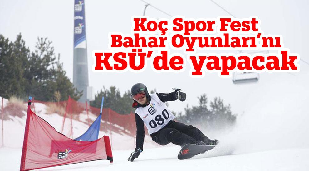Koç Spor Fest Bahar Oyunları'nı KSÜ'de yapacak