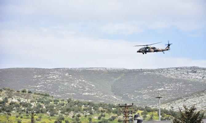 Sınırda askeri helikopter hareketliliği yaşanıyor