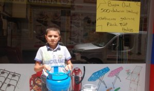 Kahramanmaraş'ta dolar bozdurana piknik tüpü bedava