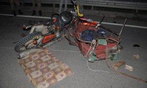 Otomobil sepetli motosiklete çarptı: 1 kişi canından oldu