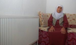 78 yaşındaki Fatma teyzenin doğalgaz sevinci görülmeye değer