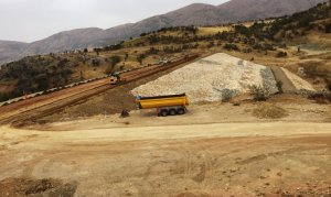 Kahramanmaraş Düzbağ Barajında Çalışmalar Tam Gaz