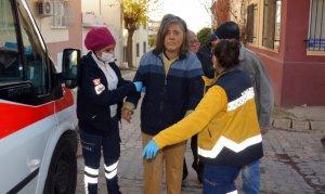 Sobadan çıkan yangın engelli kadını evsiz bıraktı
