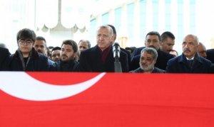 Erdoğan Aksak'ın cenazesine katıldı