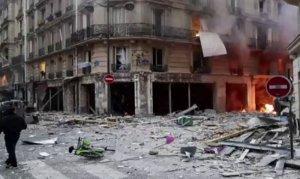 Paris'te fırında patlama