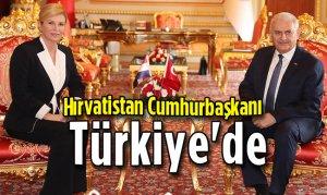 Hırvatistan Cumhurbaşkanı Türkiye'de