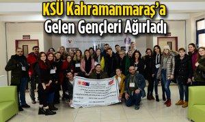 KSÜ Kahramanmaraş'a Gelen Gençleri Ağırladı