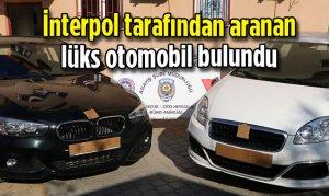 Kahramanmaraş'ta İnterpol tarafından aranan lüks otomobil bulundu