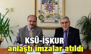 KSÜ-İŞKUR anlaştı imzalar atıldı