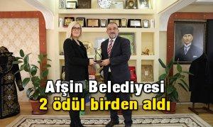 Afşin Belediyesi 2 ödül birden aldı
