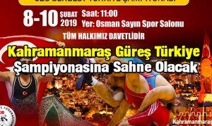 Kahramanmaraş Güreş Türkiye Şampiyonasına Sahne Olacak