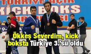 Ökkeş Severdim, kick boksta Türkiye 3.'sü oldu