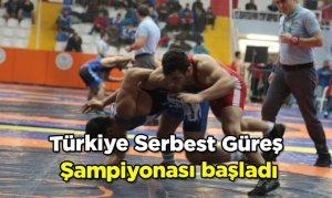 Türkiye Serbest Güreş Şampiyonası başladı