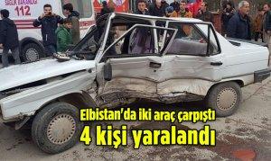Elbistan'da iki araç çarpıştı 4 kişi yaralandı