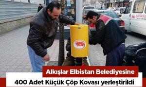 Alkışlar Elbistan Belediyesine! 400 Adet Küçük Çöp Kovası yerleştirildi